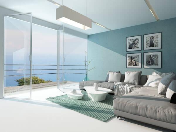 חדר שינה בצבע תכלת